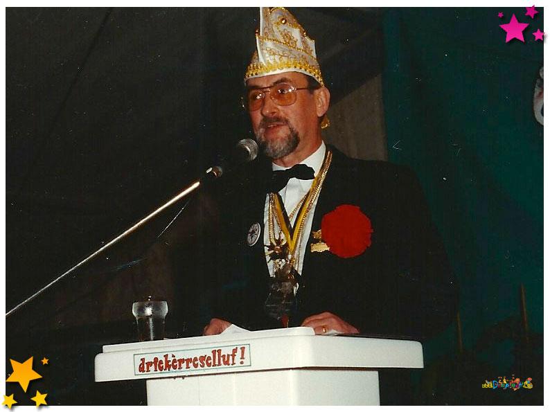 voorzitter Frans van Boekel 33 jaar Moesland - 1991 Schaijk