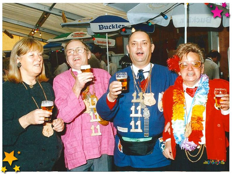 Grondleggers carnaval 33 jaar Moesland - 1991 Schaijk