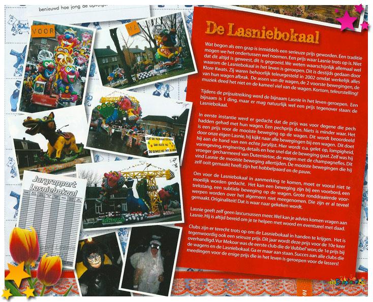Lasnie met het verhaal in de carnavalskrant van Schaijk - 2012
