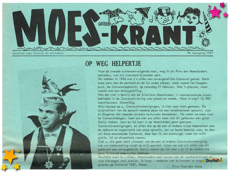 Carnavalskranten Schaijk - 1967