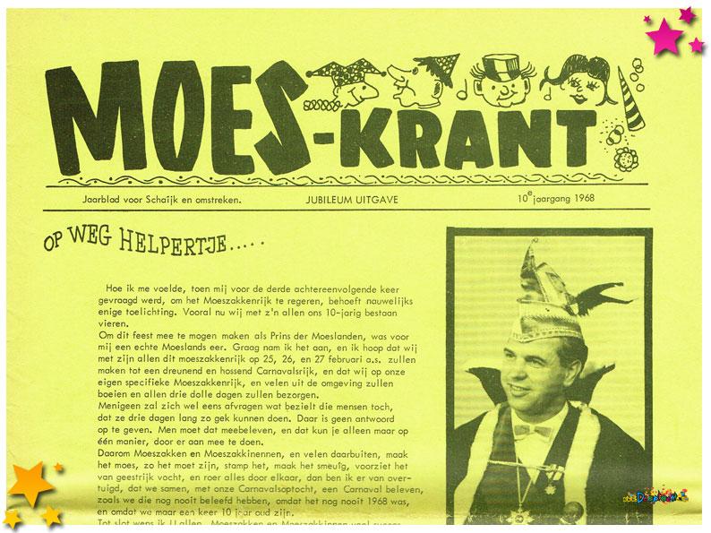 Carnavalskranten Schaijk - 1968