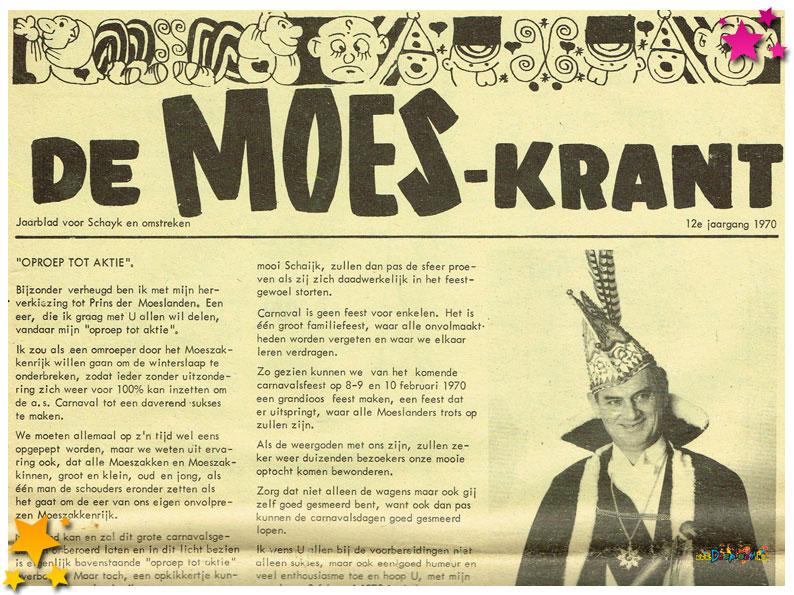 Carnavalskranten Schaijk - 1970