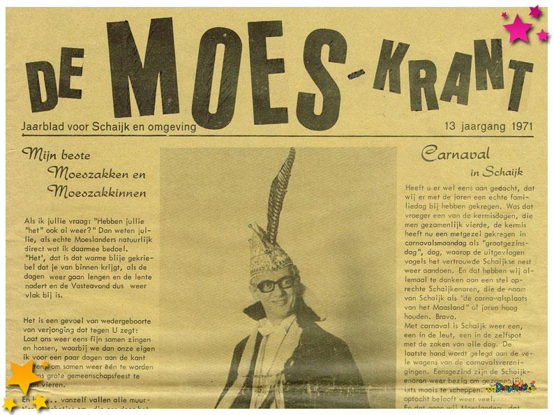 Carnavalskranten Schaijk - 1971