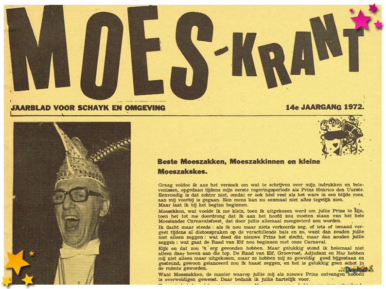 Carnavalskrant Schaijk - 1972