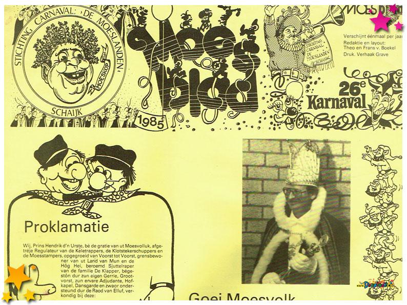 Carnavalskranten Schaijk - 1985