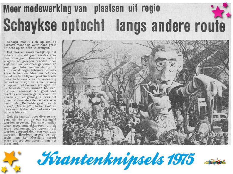 Krantenknipsels Moesland 1975