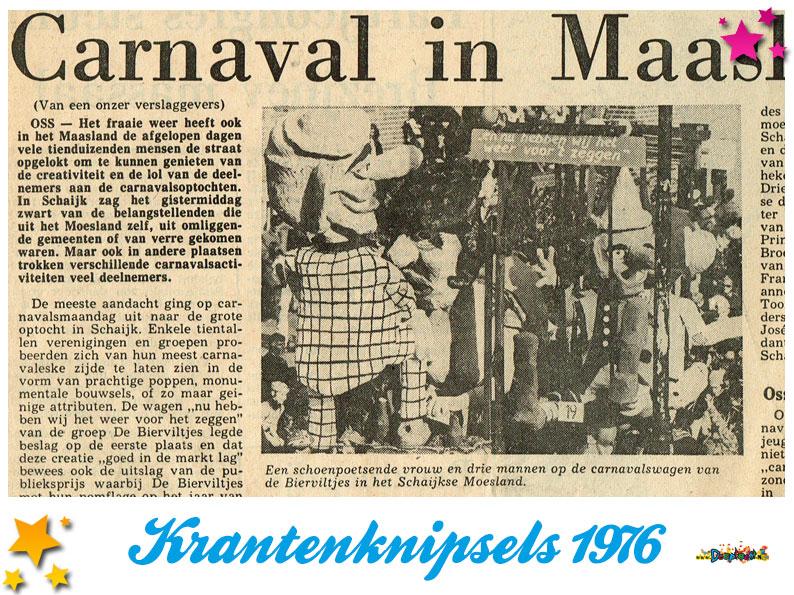 Krantenknipsels Moesland 1976