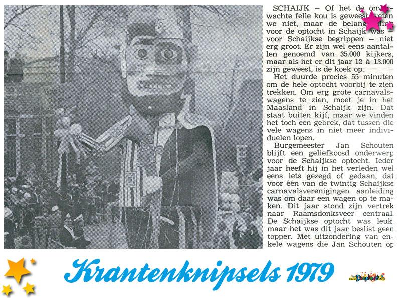 Krantenknipsels Moesland 1979