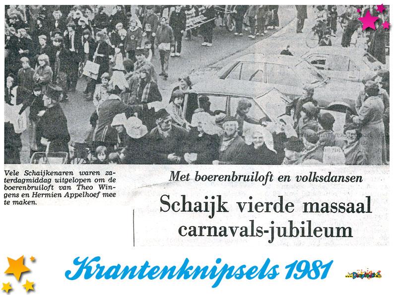 Krantenknipsels Moesland 1981