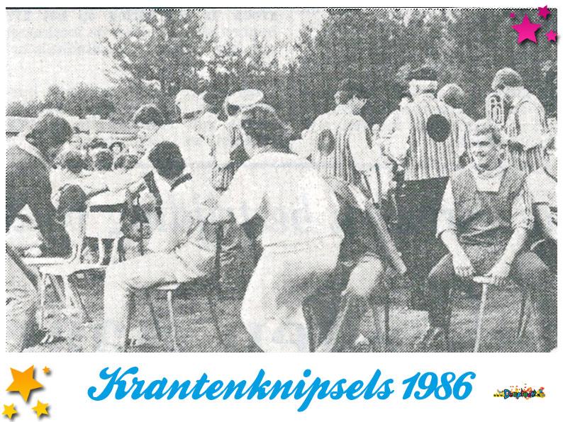 Krantenknipsels Moesland 1986