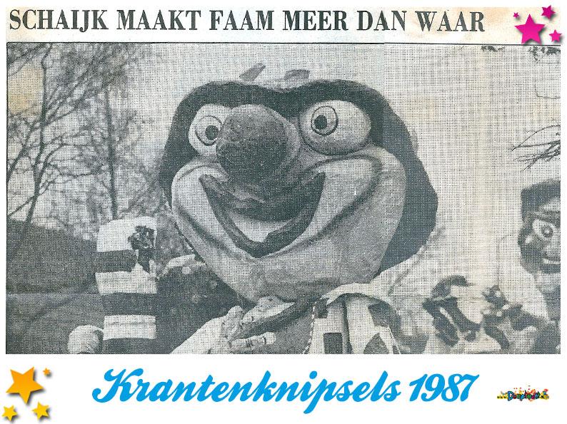 Krantenknipsels Moesland 1987