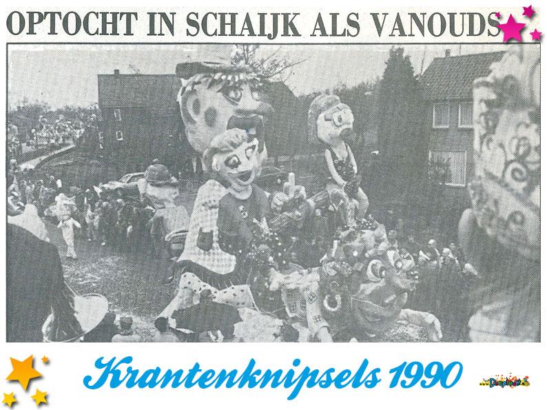 Krantenknipsels Moesland 1990