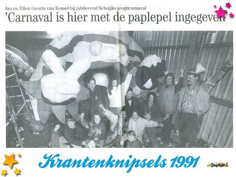 Krantenknipsels Moesland 1991