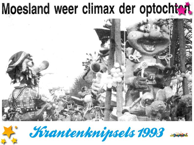 Krantenknipsels Moesland 1993