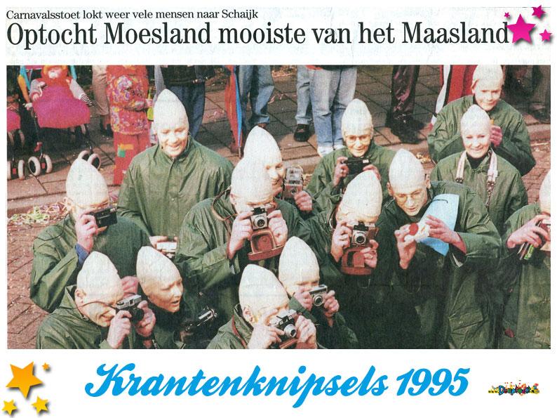 Krantenknipsels Moesland 1995