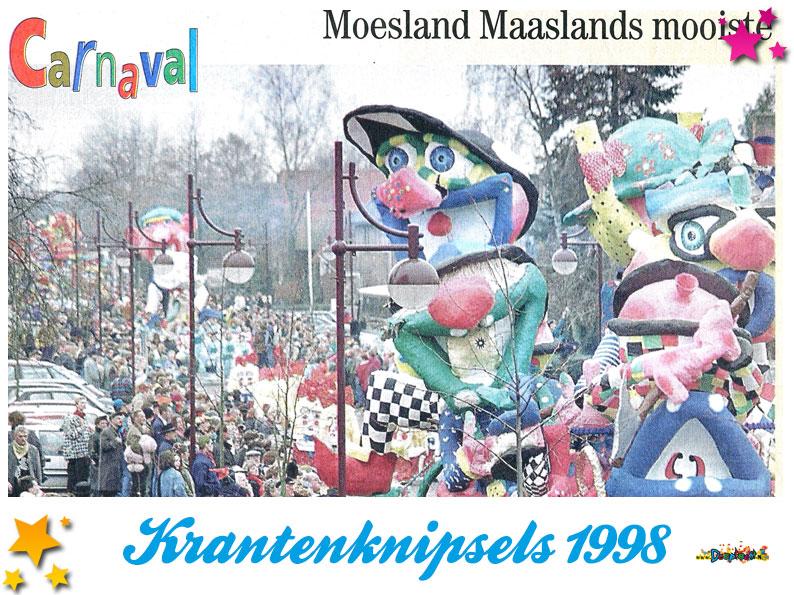 Krantenknipsels Moesland 1998