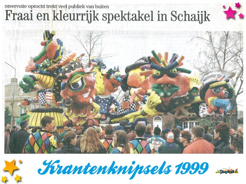 Krantenknipsels Moesland 1999