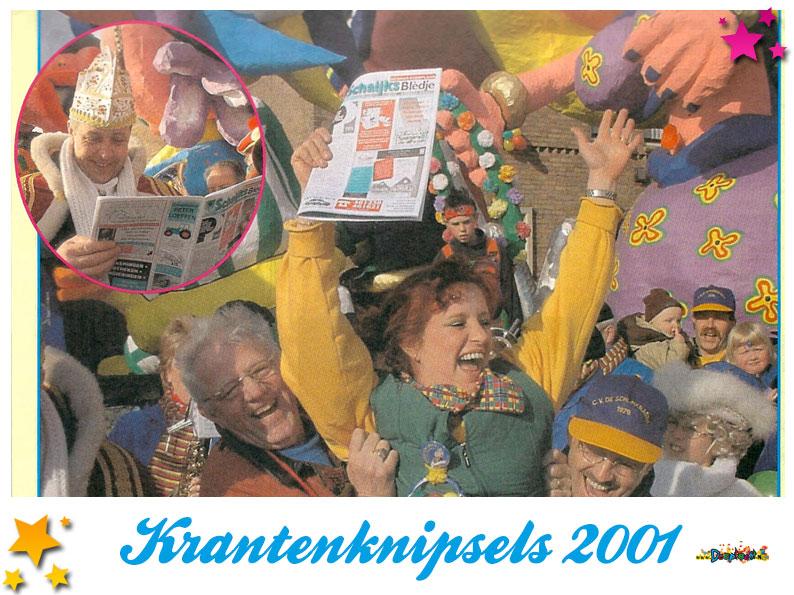 Krantenknipsels Moesland 2001