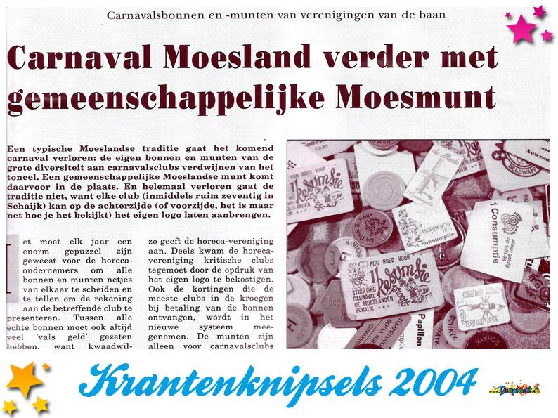 Krantenknipsels Moesland 2004