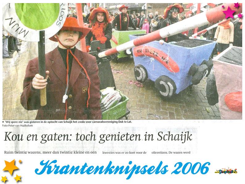 Krantenknipsels Moesland 2006