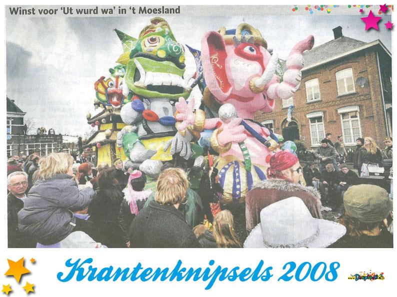 Krantenknipsels Moesland 2008