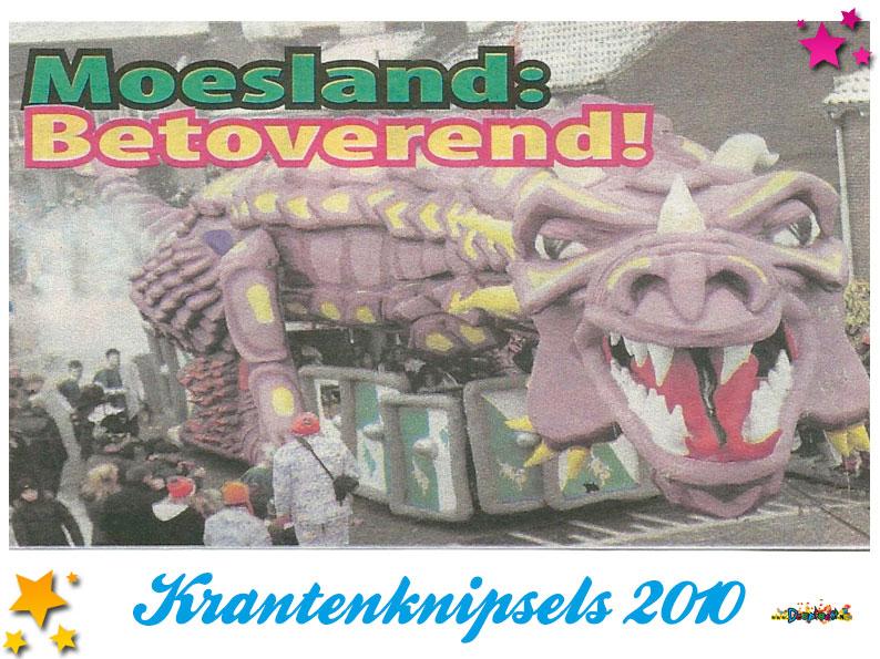 Krantenknipsels Moesland 2010