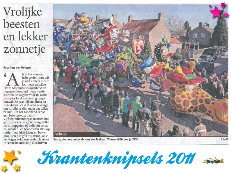 Krantenknipsels Moesland 2011