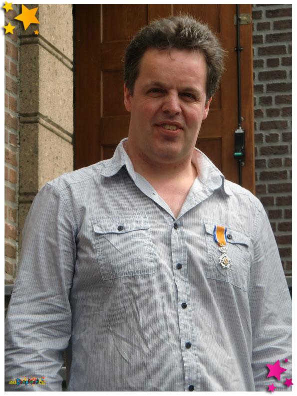 Egbert Manders lid in de Orde van Oranje - 2012 Schaijk