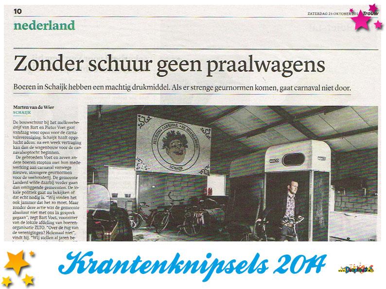 Krantenknipsels Moesland 2014