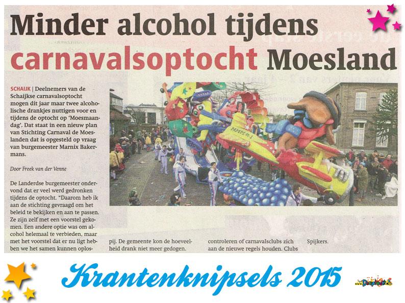 Krantenknipsels Moesland 2015