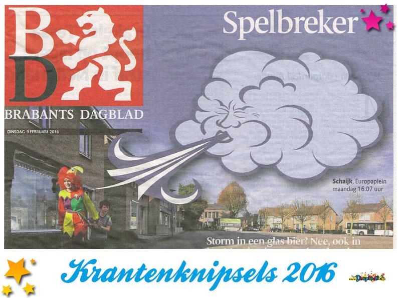 Krantenknipsels Moesland 2016