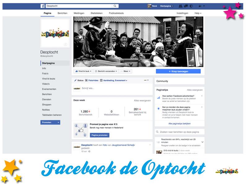 Facebookpagina De Optocht