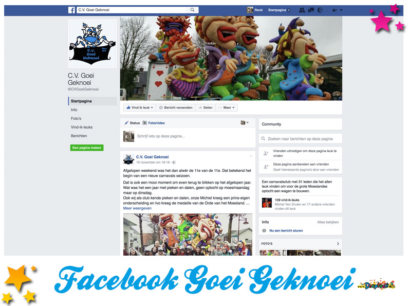 Facebookpagina Goei Geknoei