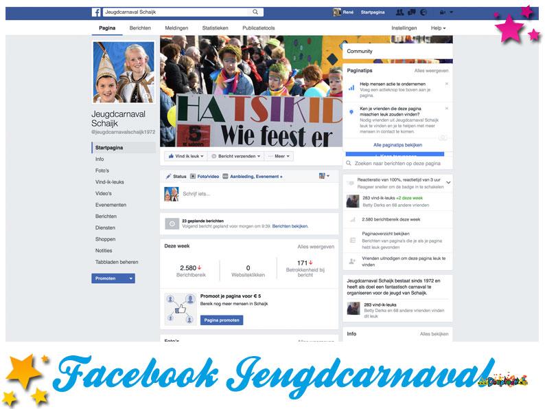 Facebookpagina Jeugdcarnaval Schaijk
