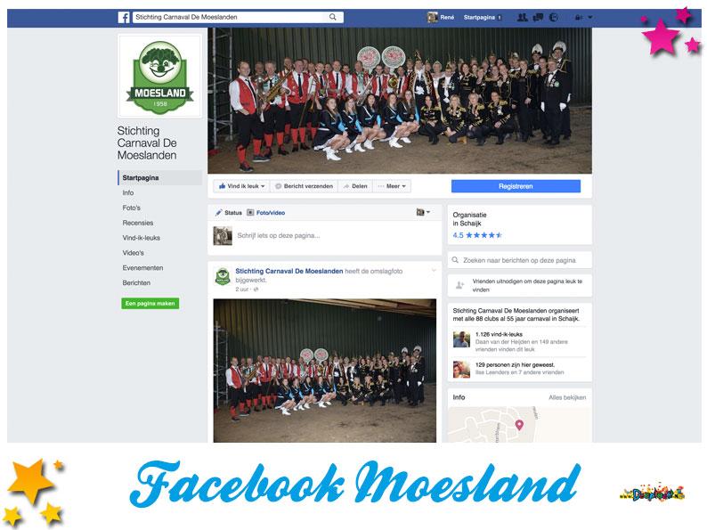 Facebookpagina Stichting carnaval de Moeslanden