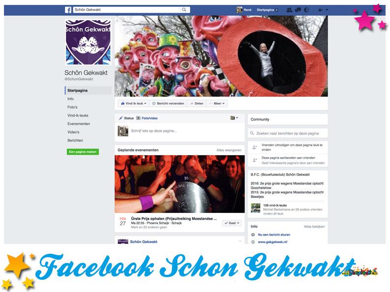 Facebookpagina Schon Gekwakt