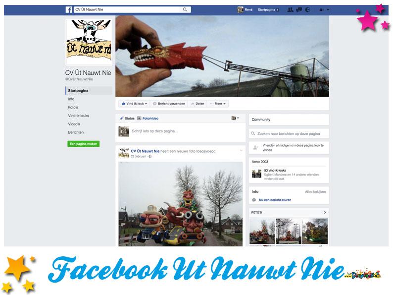 Facebookpagina Ut Nauwt Nie
