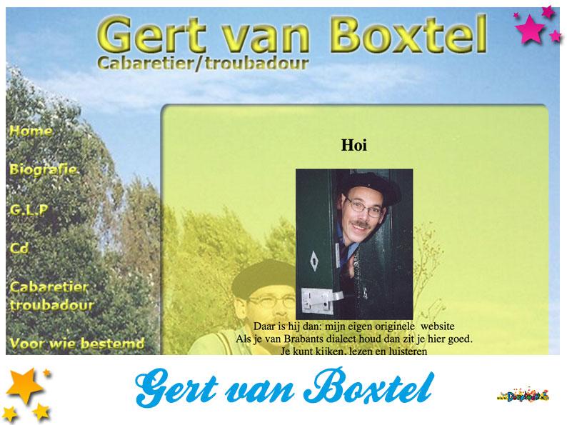 Website Gert van Boxtel