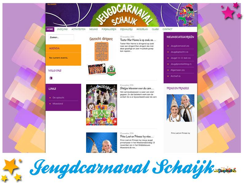Website Jeugdcarnaval Schaijk