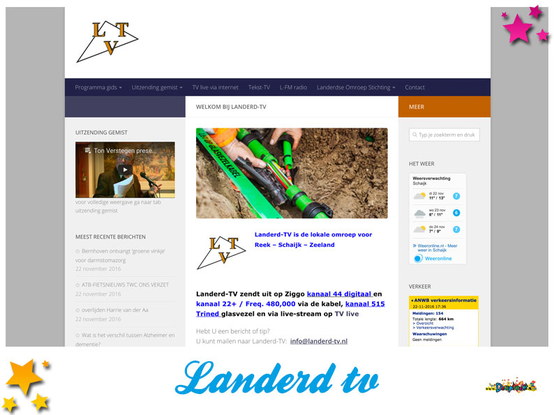 Website Landerd TV