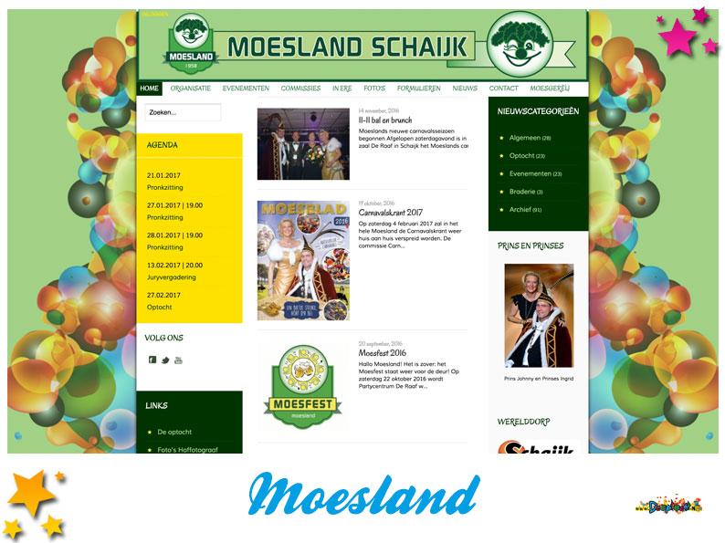 Website Stichting Carnaval de Moeslanden