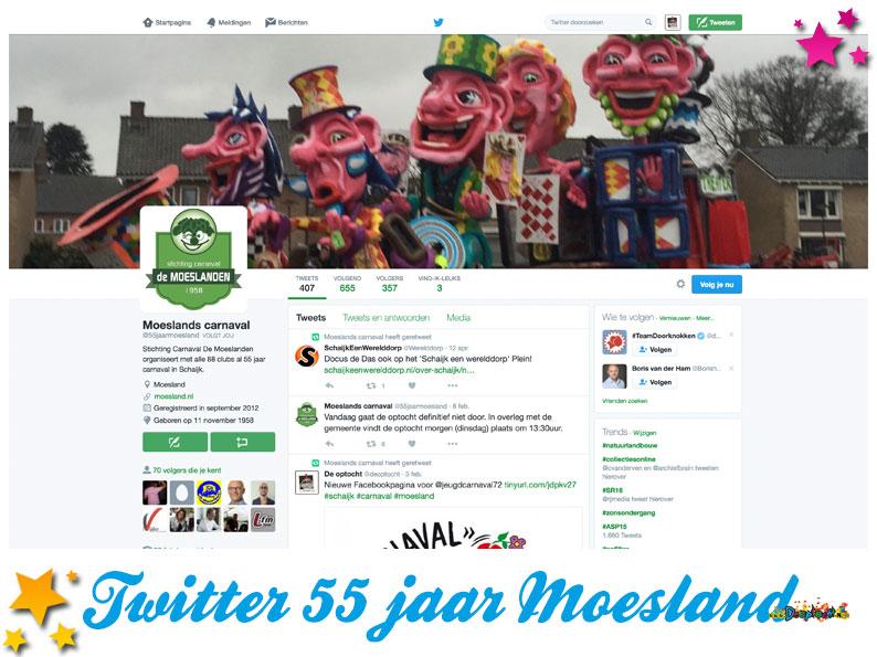 Twitter 55 jaar Moesland