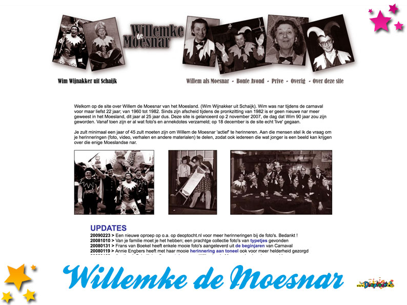 Website Willemke de Moesnar
