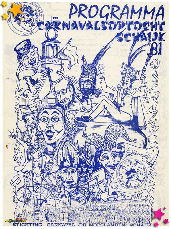 Programmaboekje optocht Schaijk 1981