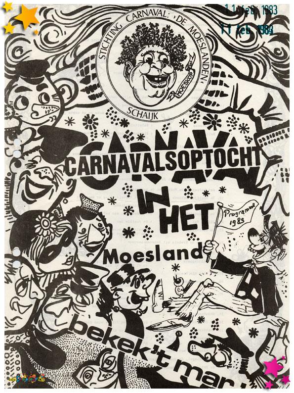 Programmaboekje optocht Schaijk 1983