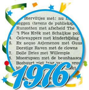 Uitslag optocht 1976 Schaijk