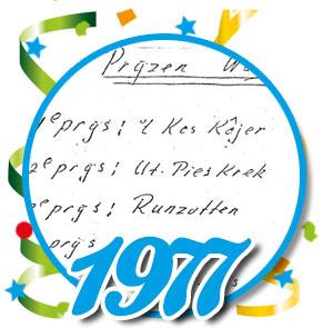 Uitslag optocht 1977 Schaijk