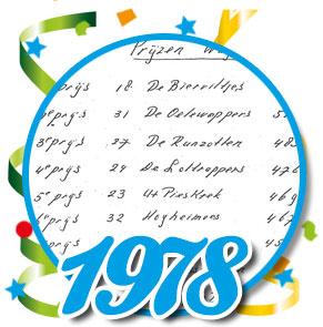 Uitslag optocht 1978 Schaijk