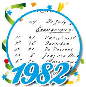 Uitslag optocht 1982 Schaijk