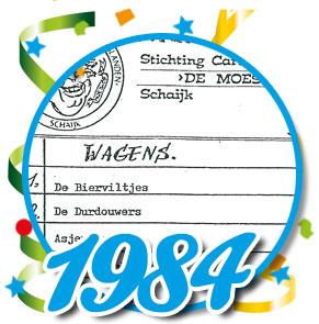 Uitslag optocht 1984 Schaijk